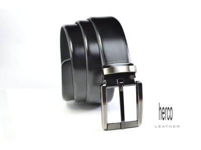 elegantný opasok herco 3,5 cm čierny
